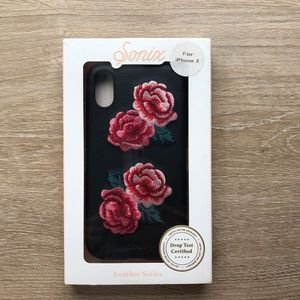 Sonix Leather Floral iPhone X Case